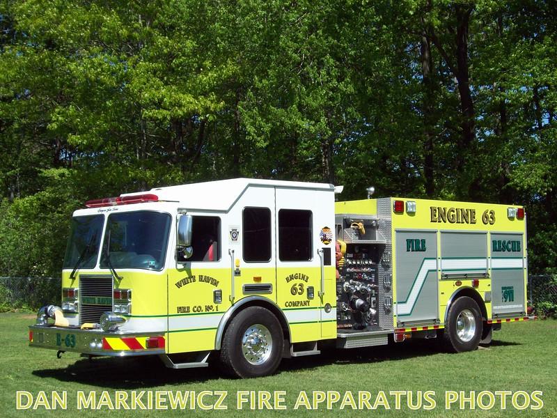 WHITE HAVEN FIRE CO. ENGINE 63 2010 KME PUMPER