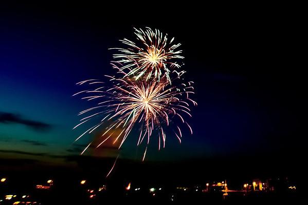 Fireworks on the Ouachita River 2013