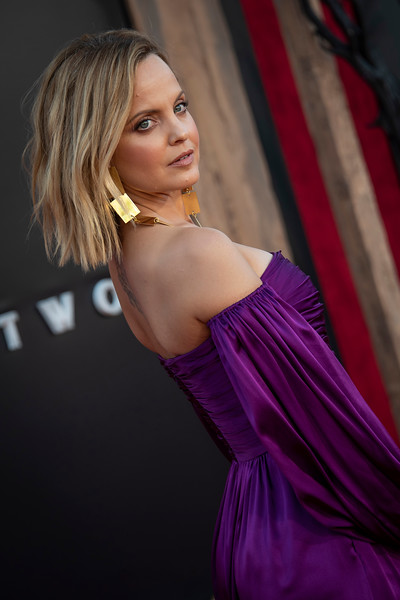 """WESTWOOD, CA - AUGUST 26: Mena Suvari attends the Premiere Of Warner Bros. Pictures' """"It Chapter Two"""" at Regency Village Theatre on Monday, August 26, 2019 in Westwood, California. (Photo by Tom Sorensen/Moovieboy Pictures)"""