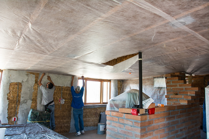 Installing Insulation Netting #4