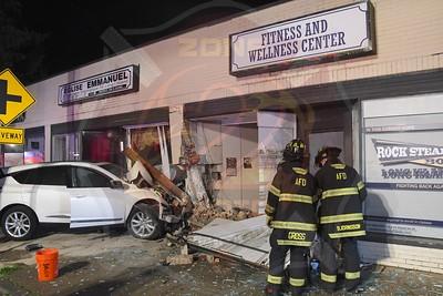 Amityville F.D. MVA w/ Car Into a Building   Broadway 7/14/21