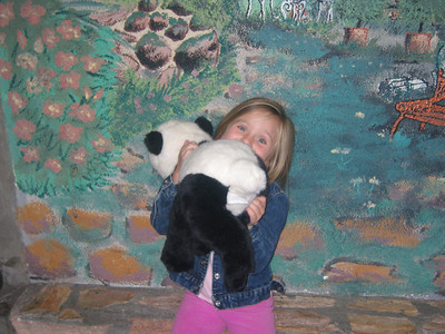 Katie and a Panda