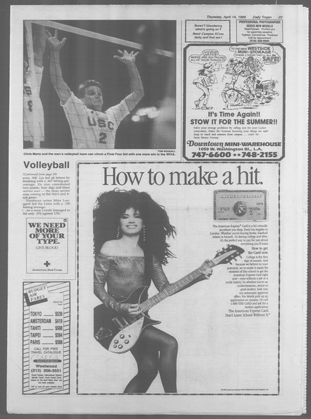 Daily Trojan, Vol. 106, No. 60, April 14, 1988
