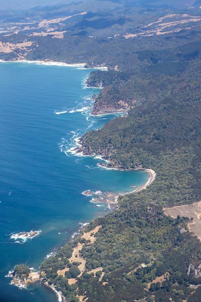 Coromandel Forest Park coastline