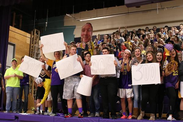 Coach Mastenbrook Win #300 - KCHS - 2/22/16