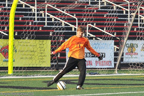 Boys Varsity Soccer Action