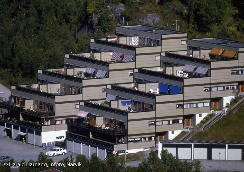 Terrassehus i Elvefaret, Skistuaområdet.