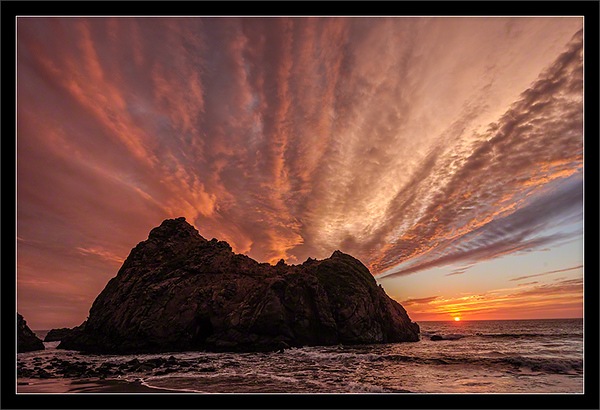 Keyhole Arch Rock Sunset