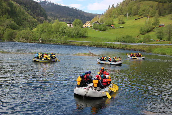 Rafting med ungdomsgruppen juni 2015