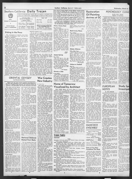 Daily Trojan, Vol. 32, No. 99, March 12, 1941