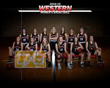 Western women's basketball WBB1819