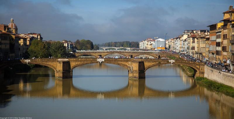 Florence - A View from Vasari Corridor - Ponte Vecchio