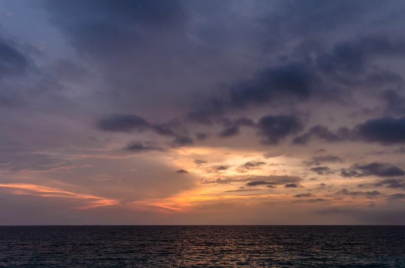 Purple sunset at Baru near Cartagena.