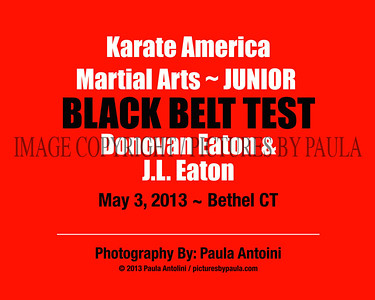 KARATE AMERICA ~ Junior Black Belt Test ~ Don Eaton & J. L. Eaton ~ Bethel, CT ~ May 3, 2013