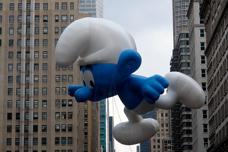 SMURF Macy's Thanksgiving Parade 2009 in Manhattan
