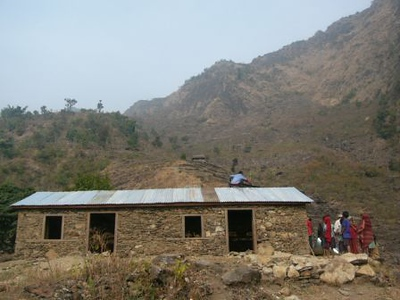 Final school at Rangchurang built with funds donated by the van Krieken of California.