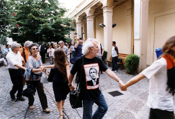 Protest against the shut down of the exhibition