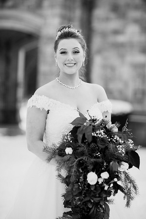 Maddie+Andrew Wedding B+W
