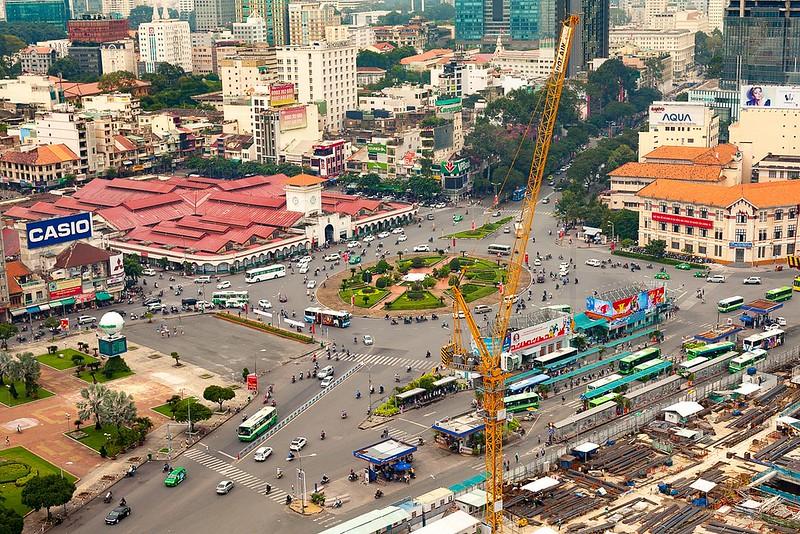 Saigon Metro Construction to Demolish Ben Thanh Roundabout, Bus Station