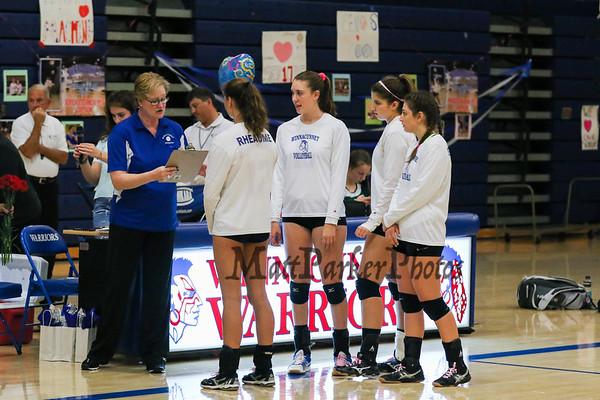 2016-10-19 WHS Girls Volleyball vs Bishop Guertin Senior Day