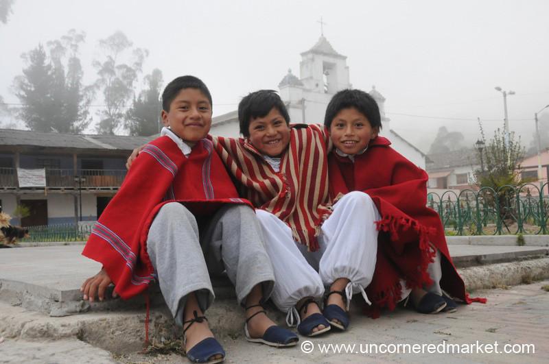 All Dressed Up in Ponchos - Chugchilan, Ecuador