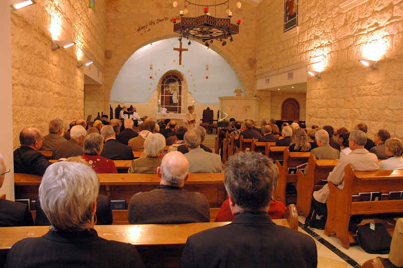 The 2009 ELCA and ELCIC Bishops' Academy concluded with worship Jan. 13 at the Evangelical Lutheran Church of the Reformation, Beit Jala, West Bank.