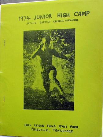 1974 Jr. High Camp from Memphis 2nd Baptist