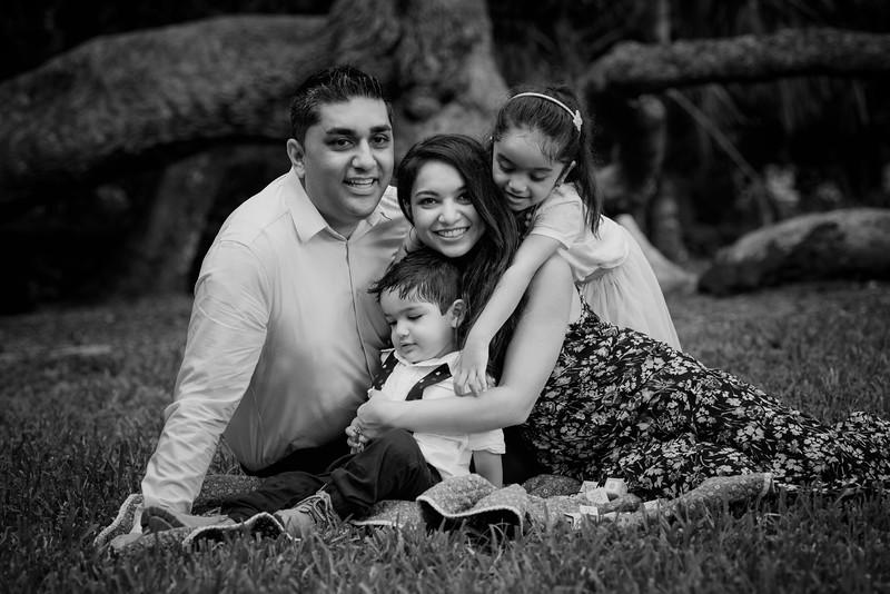 Chawhan family on grass B&W.jpg