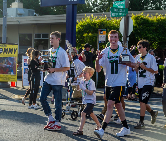 Set one: VIHS Boys Soccer and Vashon Vultures LAX State Champs Parade 05/30/2019