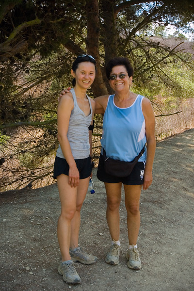 As mom and I walk back up the hill, we catch up with Valerie (whenever there is shade)