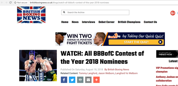 British Boxing News
