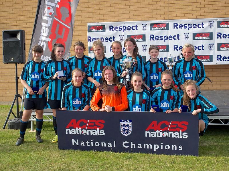 Coundon Court Girls U14's National Champions 2015