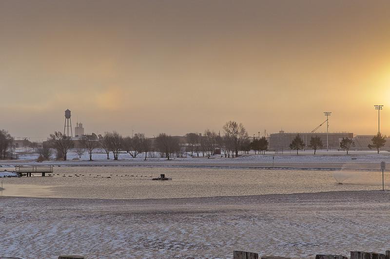 Wind,Snow,Ice, Cold 2-1-2011