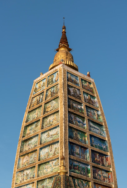 Replica of Mahabodhi Temple at Shwedagon Pagoda, Yangon (Rangoon), Myanmar (Burma)