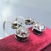 3.07ctw Double Old European Cut Dangle Earrings 12