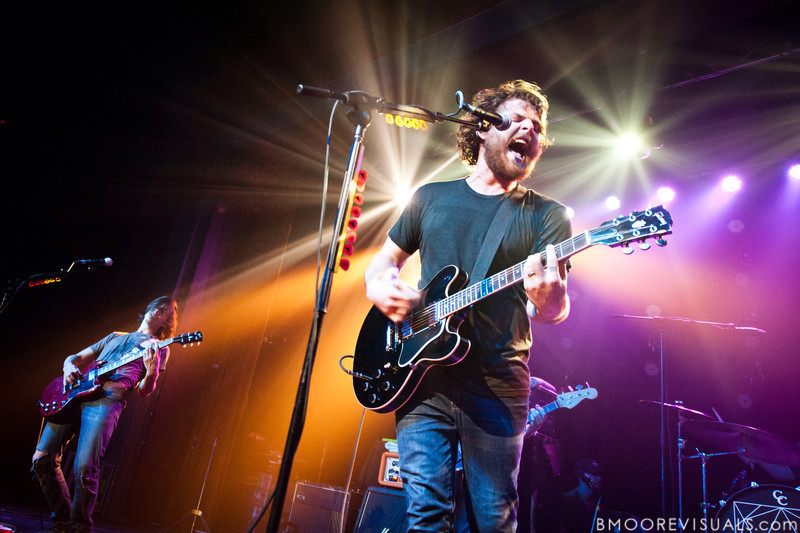 """Robert McDowell and Andy Hull of Manchester Orchestra perform in support of """"Simple Math"""" on May 24, 2011 at The Ritz Ybor in Tampa, Florida"""