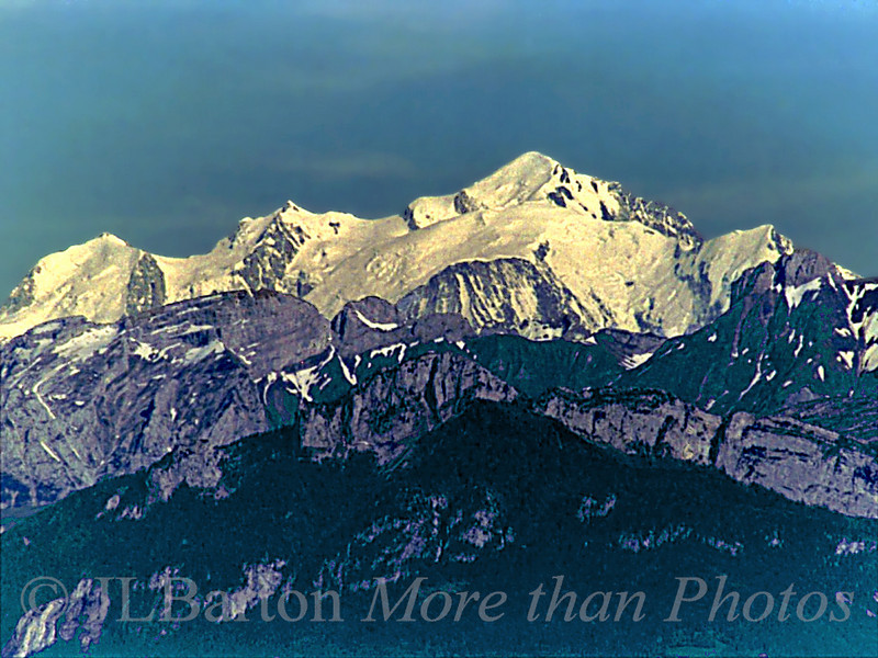 Mt. Blanc as seen from Geneva