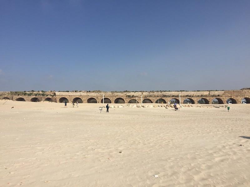 Byzantine era aqueduct in Caesarea. - Bridget St. Clair
