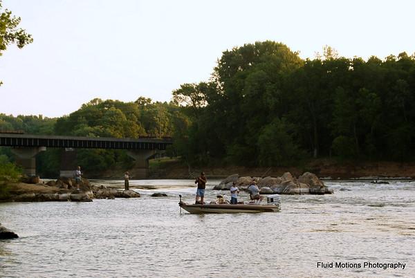 Fishing with Amanda, John, Alex and Jack
