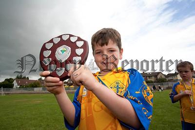 Newry Bosco Jack Mackin Memorial Tournament,Lurcan Gormley, captain Bosco Team, Shield winners.RS1431706