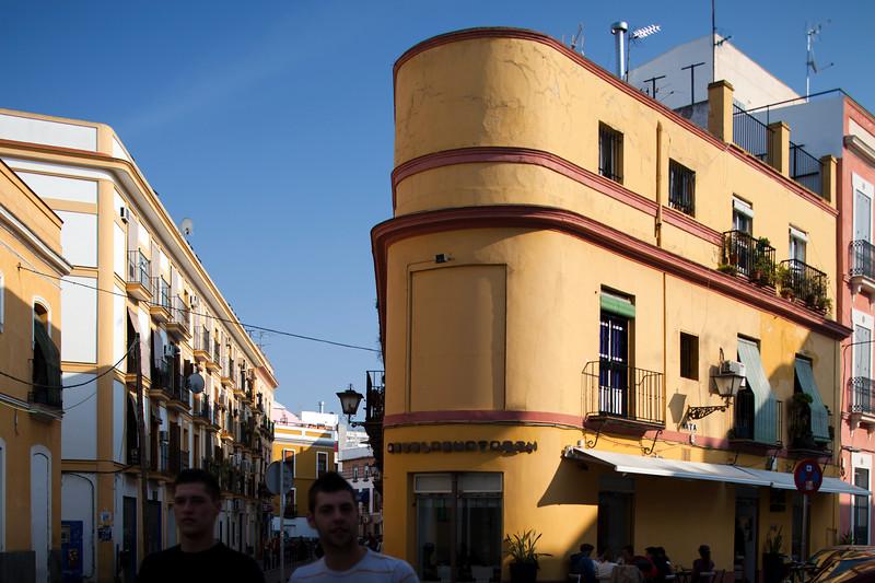 Rounded building near Alameda de Hercules, Seville, Spain
