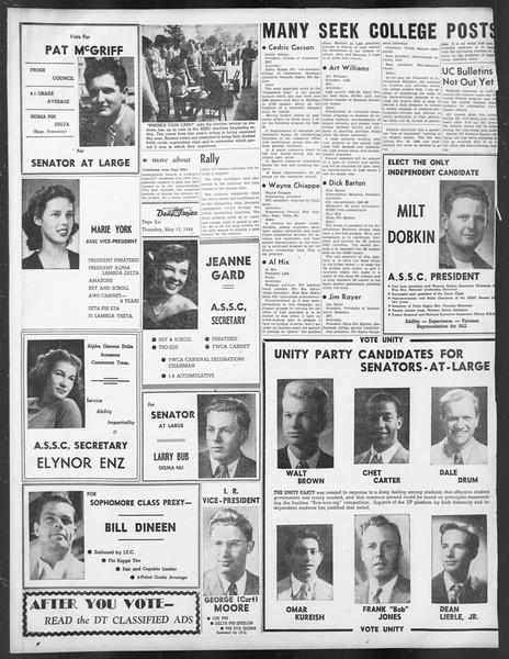 Daily Trojan, Vol. 39, No. 139, May 13, 1948
