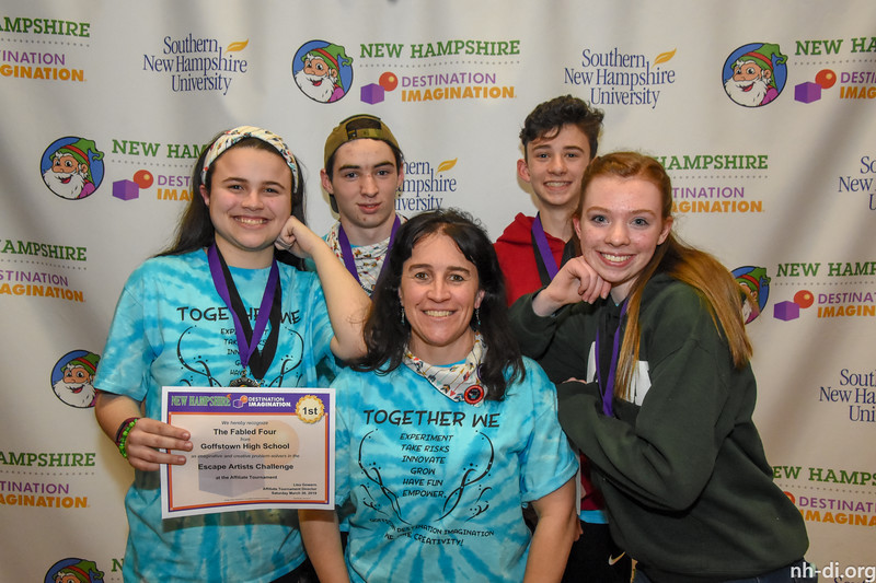 1st place and DaVinci Award. 130-50411 ,Goffstown High School, The Fabled Four, Goffstown, NH, Service Learning Challenge- Escape Artists, Secondary Level