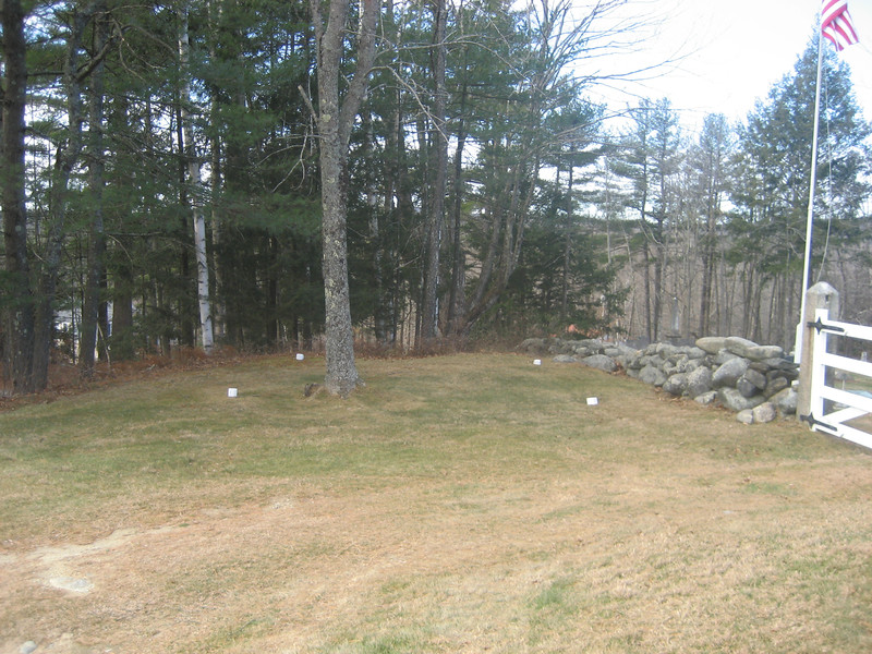 Proposed site of replica of second Hearse House.