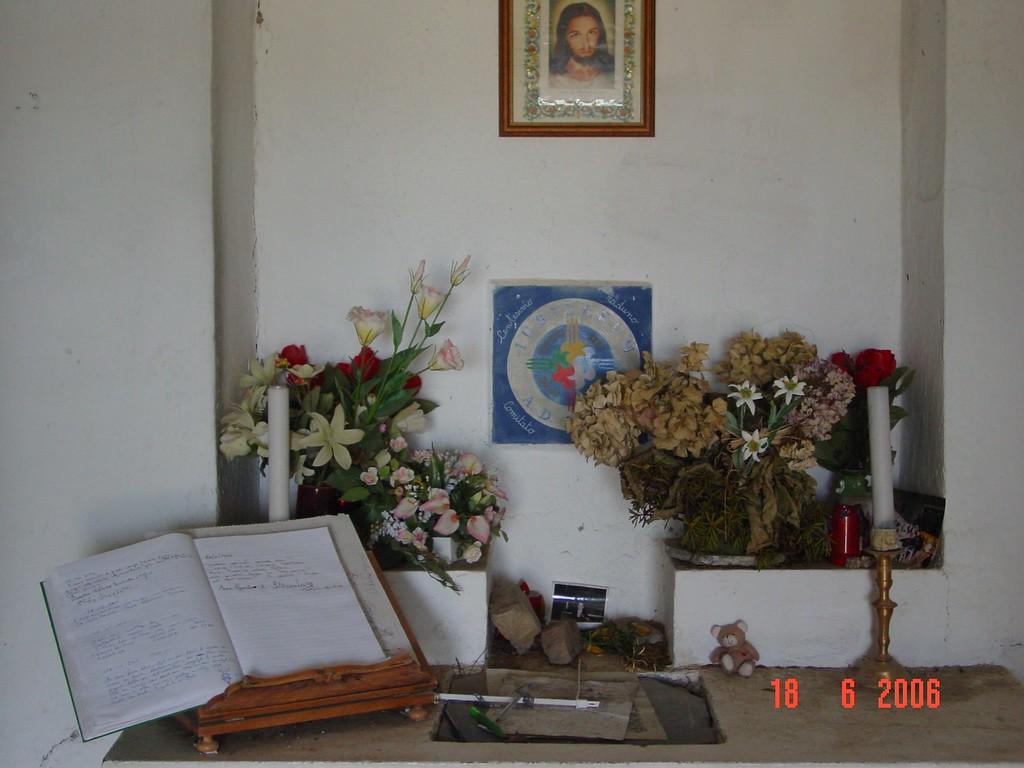 het gastenboek in de kapel van Il Redentore