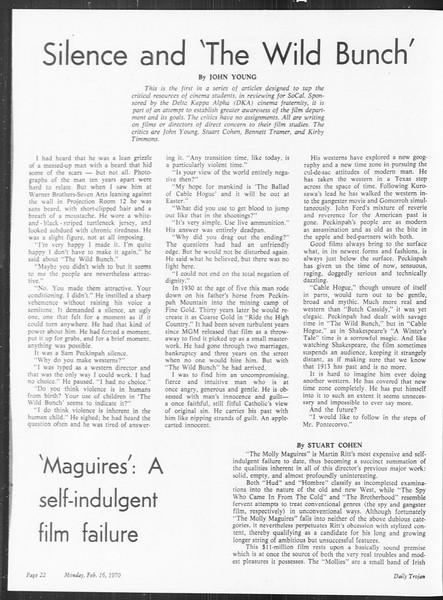 SoCal, Vol. 61, No. 74, February 16, 1970