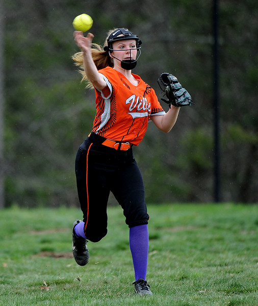 5/3/2018 Mike Orazzi   Staff Terryviile's Lacy Lyons (16) during Thursday's softball game in Plymouth.