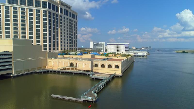Aerial footage Beau Rivage Biloxi Mississippi