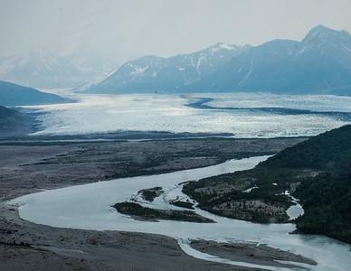 Knik River Glacier/Dog Sled