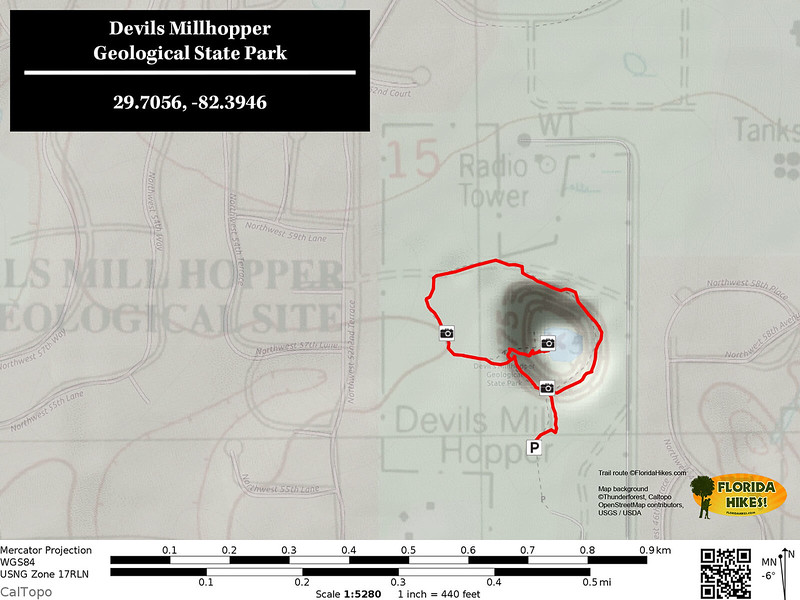 Devils Millhopper Trail Map